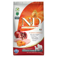 N&D Pumpkin dog Adult Medium & Maxi Pollo, Zucca e Melograno 2,5 kg