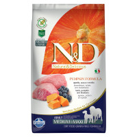 N&D Pumpkin dog Adult Medium & Maxi Agnello, Zucca e Mirtillo 2,5 kg