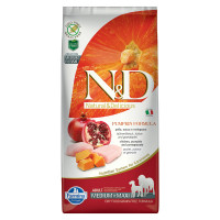 N&D Pumpkin dog Adult Medium & Maxi Pollo, Zucca e Melograno 12 kg
