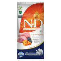 N&D Pumpkin dog Adult Medium & Maxi Agnello, Zucca e Mirtillo 12 kg