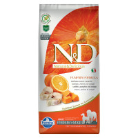 N&D Pumpkin dog Adult Medium & Maxi Merluzzo, Zucca e Arancia 12 kg