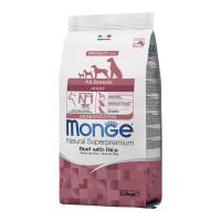 Monge All Breeds Adult Monoprotein Manzo con Riso 2,5 kg