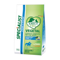Amico Veg dog Adult Medium / Maxi Piselli e Alghe 3 kg