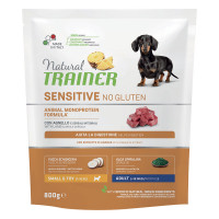 Natural Trainer Sensitive No Gluten Small & Toy Adult con Agnello 800 gr.