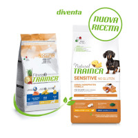 Natural Trainer Sensitive No Gluten Small & Toy Adult  con Salmone 7 kg