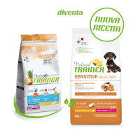 Natural Trainer Sensitive No Gluten Small & Toy Puppy & Junior con Salmone 2 kg