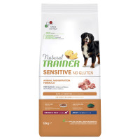 Natural Trainer Sensitive No Gluten Medium & Maxi Adult con Maiale 12 kg