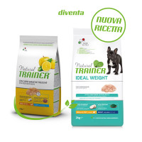 Natural Trainer Ideal Weight Small & Toy Adult con Carni bianche 2 kg