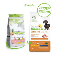 Natural Trainer Sensitive No Gluten Small & Toy Adult con Maiale 2 kg