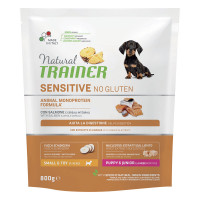 Natural Trainer Sensitive No Gluten Small & Toy Puppy & Junior con Salmone 800 gr.