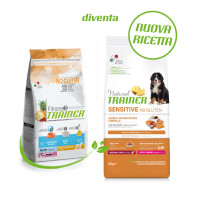 Natural Trainer Sensitive No Gluten Medium & Maxi Puppy & Junior con Salmone 12 kg