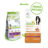 Natural Trainer Dog Sensitive No Gluten Medium&Maxi Mature con Salmone 12kg