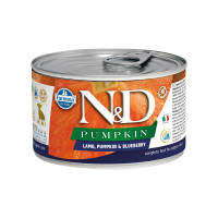 N&D Pumpkin dog puppy mini Lamb, Pumpkin & Blueberry 140 gr.
