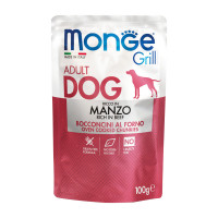 Monge Grill dog adult ricco in Manzo 100 gr.