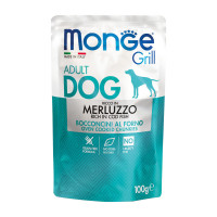 Monge Grill dog adult ricco in Merluzzo 100 gr.