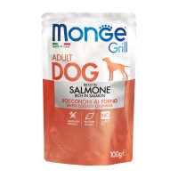 Monge Grill dog adult ricco in Salmone 100 gr.