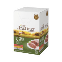 True Instinct No Grain dog mini adult patè con Manzo, Pollo e Tacchino 4x150 gr