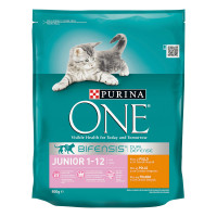 Purina One Bifensis Crocchette Junior 1-12 mesi Pollo e Cereali Integrali 800 gr