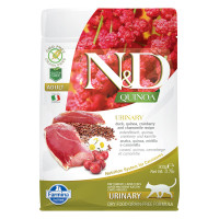 N&D Quinoa feline Urinary Anatra, mirtillo rosso e camomilla 300 gr.