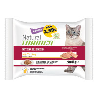 Natural Trainer Adult Sterilised Tacchino 4x85 gr.