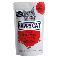 Happy Cat Meat in Sauce Adult Vitello e Fegato 85 gr.
