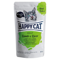 Happy Cat Meat in Sauce Adult Agnello e Fegato 100 gr.