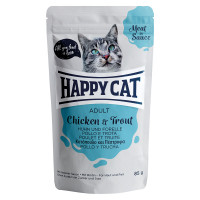 Happy Cat Meat in Sauce Adult Pollo e Trota 85 gr.