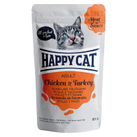 Happy Cat Meat in Sauce Adult Pollo e Tacchino 100 gr