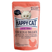 Happy Cat All Meat Kitten- Junior Pollo e Merluzzo Giallo 85 gr.