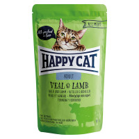 Happy Cat All Meat Adult Vitello e Agnello 85 gr.