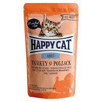 Happy Cat All Meat Adult Tacchino e Merluzzo Giallo 85 gr.