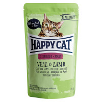 Happy Cat All Meat Adult Sterilised Vitello e Agnello 100 gr.