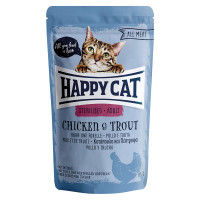 Happy Cat All Meat Adult Sterilised Pollo e Trota 100 gr.