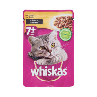Whiskas 7+ busta con Pollo in salsa 100 gr