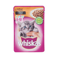 Whiskas Junior busta con Pollame in salsa 100 gr.