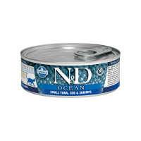 N&D Cat Ocean Tuna, Code & Shrimps Adult 80 gr.