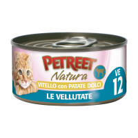 Petreet Le Vellutate Adult cat Vitello con patate dolci 70 gr.