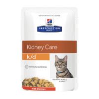 Hill's Prescription Diet Feline k/d  con Pollo 85 gr.