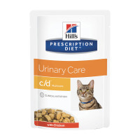 Hill's Prescription Diet c/d Multicare Alimento per Gatti con Pollo 85 gr.