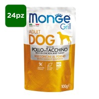 Monge Grill Dog Adult ricco in Pollo 24x100gr