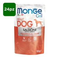 Monge Grill Dog Adult ricco in Salmone 24x100gr