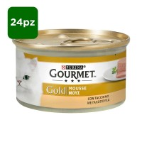 Gourmet Gold Mousse con Tacchino 24 x 85 gr