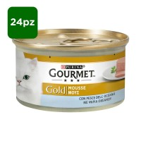 Gourmet Gold Mousse di pesce dell'oceano 24 x 85 gr
