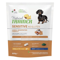 Natural Trainer Sensitive No Gluten Small & Toy Adult con Salmone 800 gr.