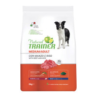 Natural Trainer Medium Adult Manzo con Riso 3 Kg