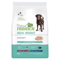 Natural Trainer Ideal Weight Medium & Maxi Adult con Carni bianche 3 kg.