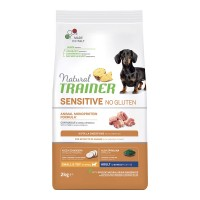 Natural Trainer Sensitive No Gluten Small & Toy Adult con Maiale 2 kg.