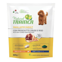 Natural Trainer Small & Toy Adult con Prosciutto crudo e Riso 800 gr.
