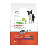 Natural Trainer Medium Adult con Tonno e Riso 3 kg