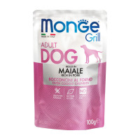 Monge Grill dog adult ricco in Maiale 100 gr.